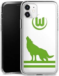 DeinDesign Silikon Hülle kompatibel mit Apple iPhone 11 Case transparent Handyhülle VFL Wolfsburg Fußball Offizielles Lizenzprodukt