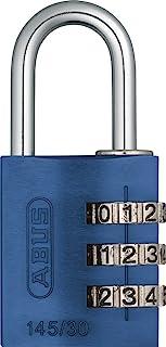 ABUS 465772-145/30_AZUL_B Candado aluminio combinacion 30 mm 3 dígitos azul blister