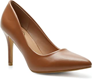 Trary Women's Pointed Toe High Heel Dress Pump Shoes