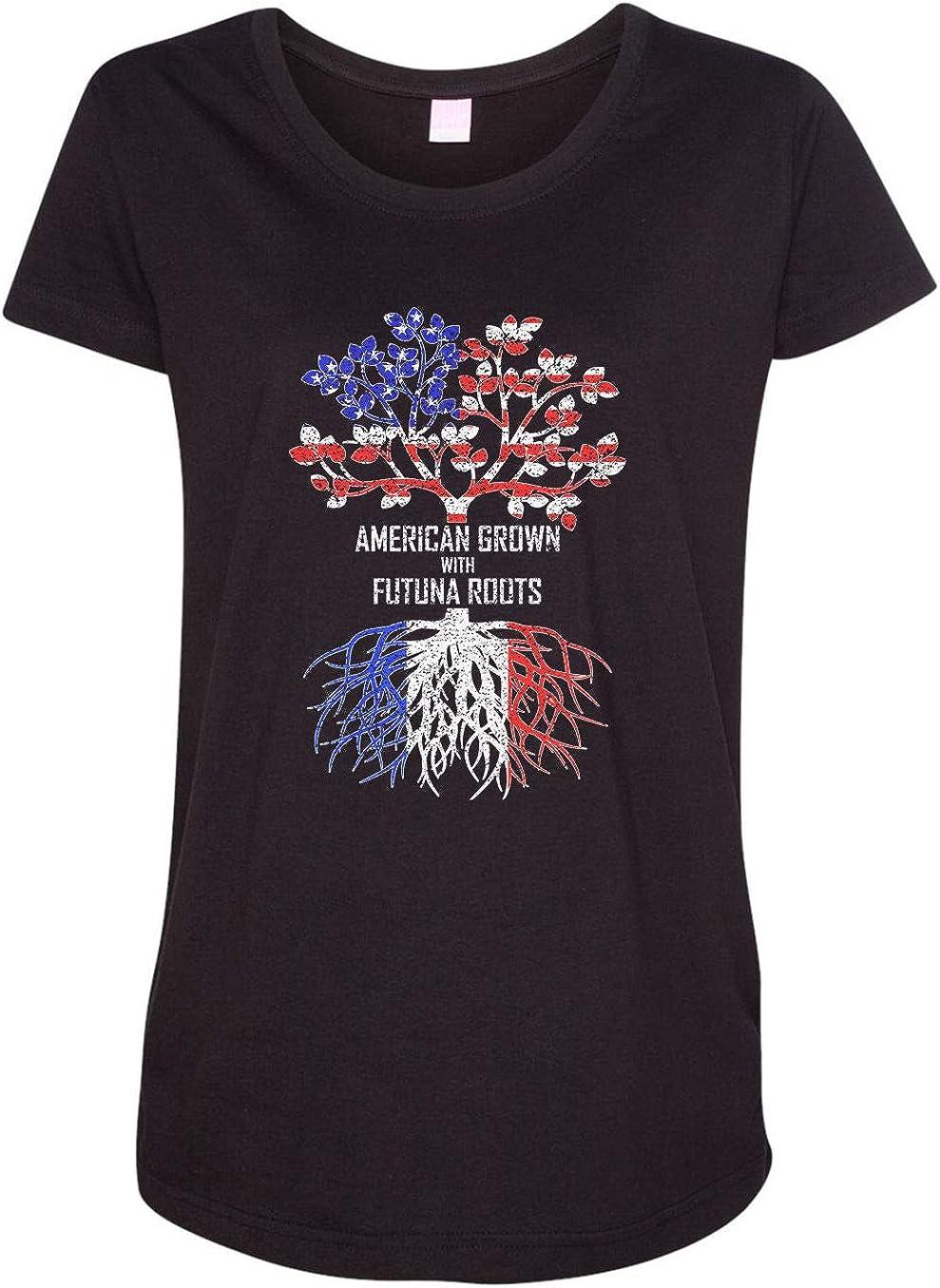 HARD EDGE DESIGN Women's American Grown with Futuna Roots T-Shirt