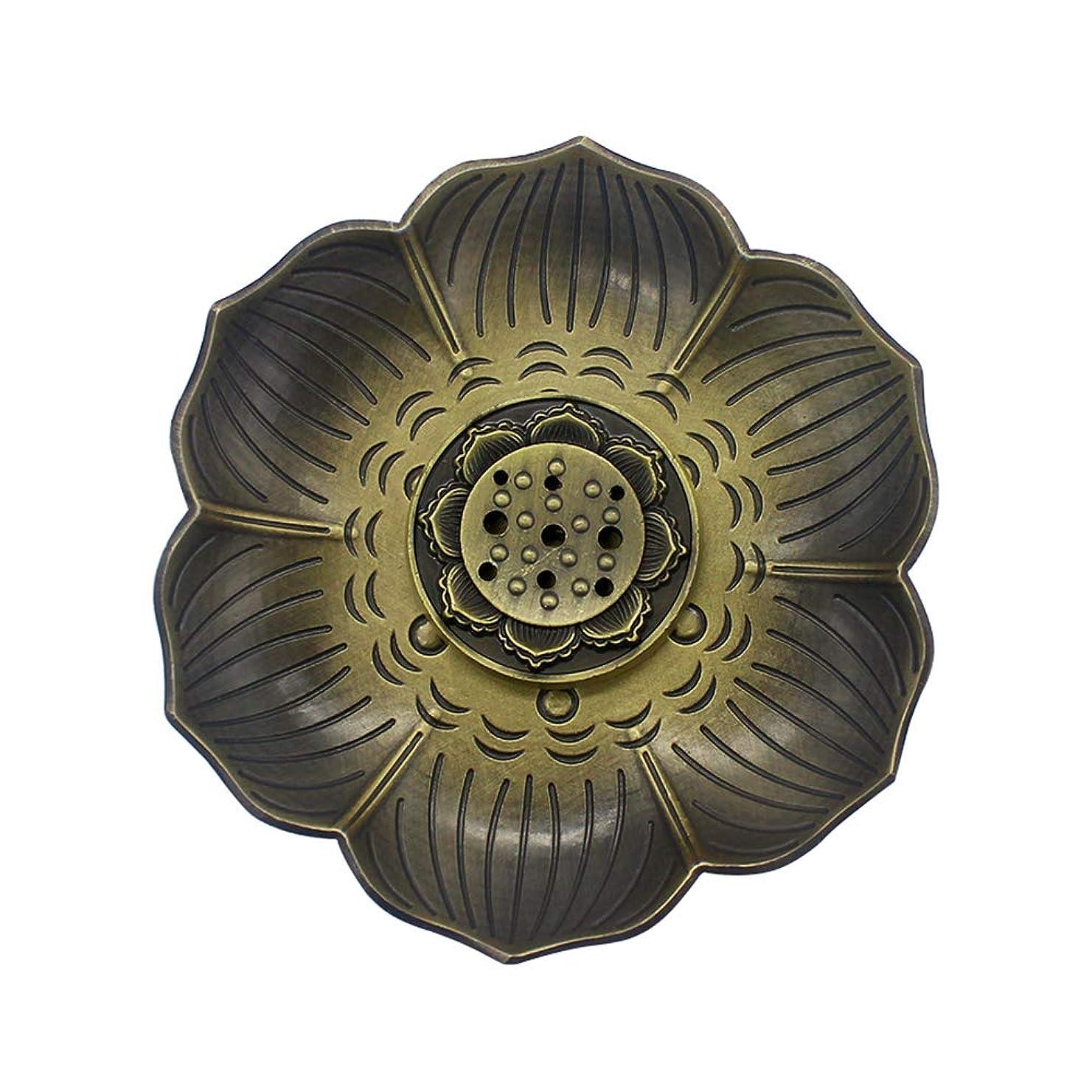 寓話識字プレゼンMyLifeUNITブロンズLotus Incenseホルダー、多目的香炉お香の円錐、またはコイル