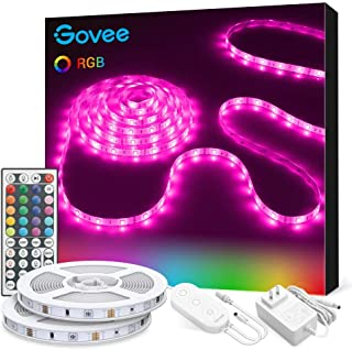 LED Strip Lights, Govee 32.8ft RGB Colored Rope Light...