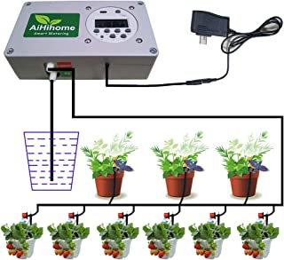 AiHihome Automatic Watering System Indoor Plant Auto Watering - by Digital Timer Irrigation Controller Watering for Garden Flower Plant