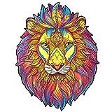 Rompecabezas De Madera con Forma De Búho, Ideal para La Colección De Juegos Familiares (Lion)