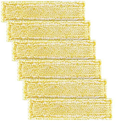 Funnytime 6 Stück Mikrofaser-Tuchset Waschbar Microfiber für Karcher Fensterreiniger Vakuum-Sprühflaschen WV2, WV5, WV2 P, WV5 P, für Karcher WV50, WV55, WV60, Ersetzt 2.633-130.0 - Gelb