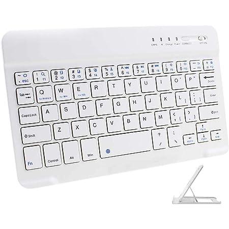 Teclado Bluetooth Inalámbrico Ultrafino de 7 pulgadas Mini Tableta Teclado 7 inch Wireless Keyboard para iPad 2 3 4 ...