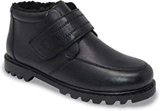 Mens Leather Touch Fasten Boot Color
