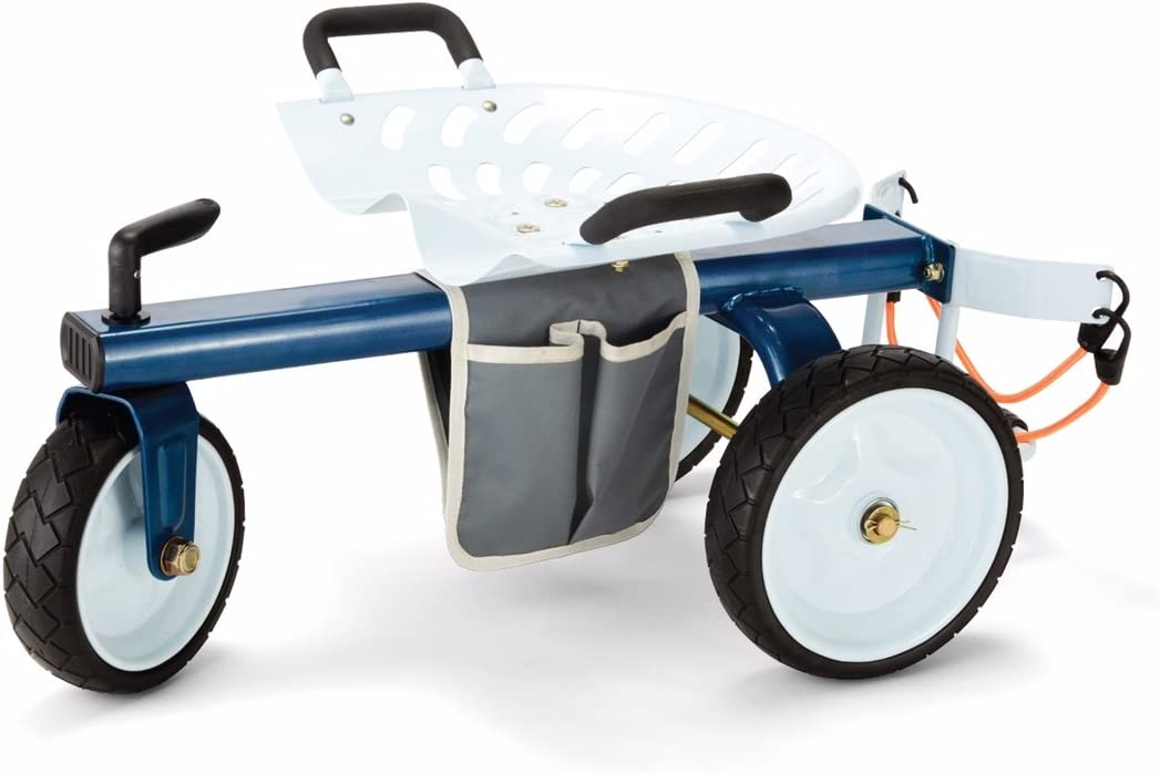Gorilla Carts GCG-RGS Rolling Choice Garden store Size Scooter One B White