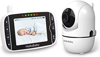 Baby Monitor,Hello Baby Monitor with Camera and Audio, 3.2'' LCD Screen,Rotate 355°Horizontally and120°Vertically,VOX Mode...