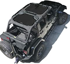 ALIEN SUNSHADE Jeep Wrangler Sunshade 2-Piece Front & Rear Mesh Jeep Tops - Jeep JKU Sunshade 4-Door JKU Top (2007-2018) (Black)