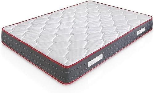marckonfort Colchón Viscoelástico Ergo-Therapy 90X190, 18 cm de Altura, 2 cm de Viscoelástica de 65 Kg/m³, Independen...