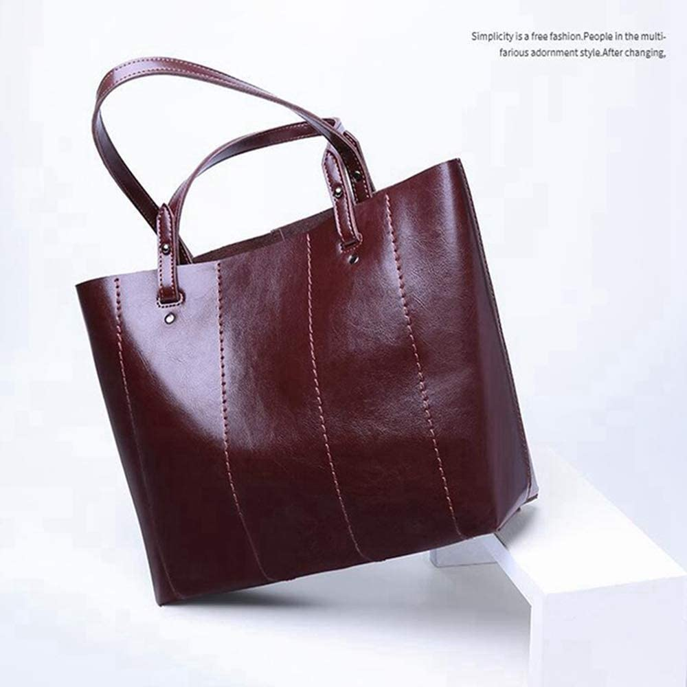 Sxuefang Sac à Main Oblique Croix Sac Dame Grande Capacité ImperméAble à l'eau De Haute Qualité Bag en Cuir 34x11x28cm B