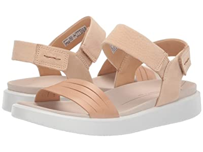 ECCO Flowt Strap Sandal (Powder/Powder Cow Leather/Cow Nubuck) Women