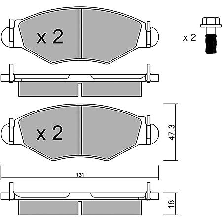 Metelligroup 22 0159 1 Bremsbeläge Made In Italy Ersatzteile Für Autos Ece R90 Zertifiziert Kupferfrei Auto
