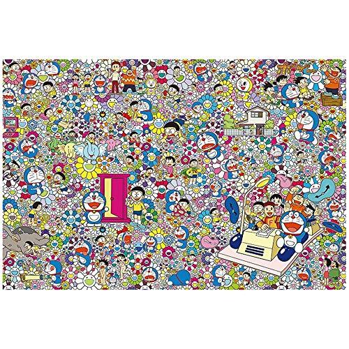 1000 Rompecabezas Pieza for Adultos, Cartón Madera Puzzles, Rompecabezas Educativo Decompressing Intelectual Diversión Family Game for Adultos de los niños - la Serie Doraemon (Color : 20)
