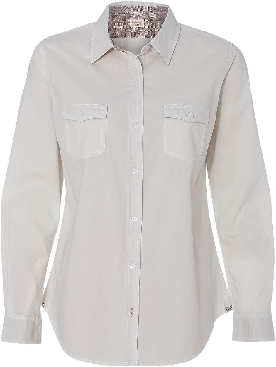 Weatherproof Womens New life Vintage Popular overseas Chambray W154885 Sleeve Long Shirt