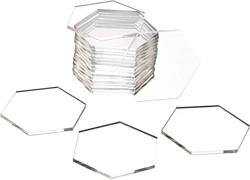 wholesale Acrylic Clear Hexegon Place Cards, Guest Names Escort placecards, Seating wholesale Tiles, Food Signs for Birthday Party, Wedding, Banquet, wholesale 20 pcs outlet online sale