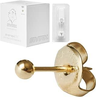 Ear Piercing Earrings Gold Mini 3mm Round Ball Studs