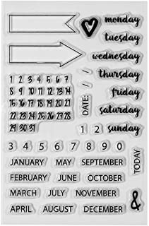 Spellbinders STP-008 Clear Acrylic Stamps-Planner Dates & Months