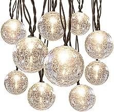 allen + roth 8.5-ft 10-Light White Crackle Glass-Shade Plug-in Globe String Lights