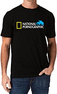 Funny National Pornographic Geographic Wild Porn Rude Dirty Men's T-Shirt