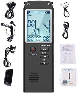 Kinshops spraakgestuurde mini digitale geluidsrecorder voicerecorder MP3-speler groot beeldscherm zwart