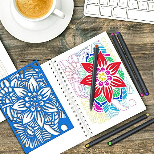 MyLifeUNIT Fineliner Color Pen Set, 0.4mm Colored Fine Liner Sketch Drawing Pen, Pack of 10 Assorted Colors