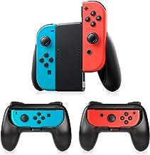 Manette Switch Joy-Con Grips, Timoom 3 Psc Manette Nintendo Switch Coque de Protection Contrôleur Jeu Poignées Kit, Avec P...
