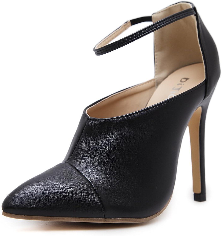 Bon Soir Womens Pointy Toe Stiletto Heel Sandal