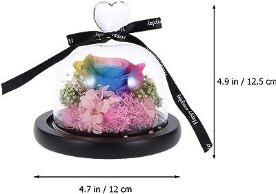 VOSAREA - Flor decorativa de cristal para mujer, diseño de flor inmortalizada, color rosa