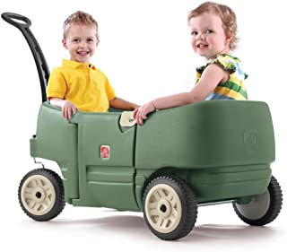 STEP2 WAGON FOR TWO PLUS(WILLOW GRN) 766500 Rideon