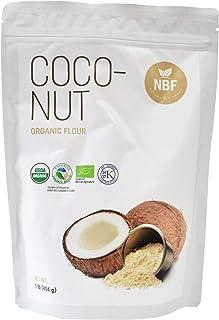 NBF Organic Coconut Flour 1LB (16 Oz) Gluten Free Non-GMO Vegan Keto Paleo Friendly Baking Flour
