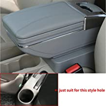 Longzhimei Arm Rest Box for Nissan Terrano 2017-2018 Car Center Console Armrest Storage Box Accessories with Cup Holder Removable Ashtray