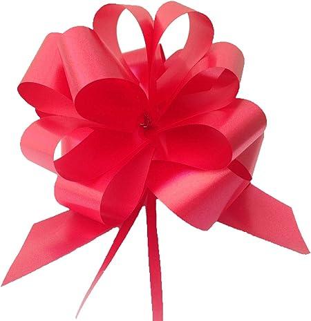 30 lazos de regalo para montar, 10 cm de diámetro, cinta de 3,0 cm de ancho, para usar en boda, coche, casa, bautismo, graduación o comunión, color blanco, marfil, celeste, rosa, rojo,