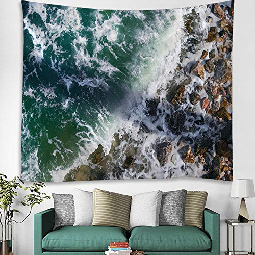 AdoDecor Tapiz, tapices para Colgar en la Pared de la Playa del mar para la decoración del hogar, impresión, diseño de Moda, rectángulo 150x200cm/59 * 79pulgadas