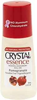 Crystal Essence Mineral Deodorant Roll-On, Pomegranate 2.25 oz ( Pack of 6)