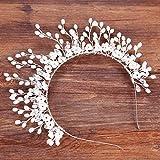 Tiara Corona Adorno para El Pelo Vestido De Novia Retro Flor De Cabeza Femenina Aro De Pelo Accesorios De Vestir Simple Noble Delicado Elegante Decoración Fotográfica