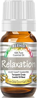 Pure Gold Relaxation Blend Essential Oil, 100% Natural & Undiluted, 10ml