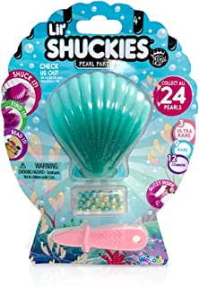 COMPOUND KINGS Lil' Shuckies Pearl and Slime Toy Teal | Surprise Pearl for DIY Mix n Match Kid's Jewelry Making, Foam Beads, Stretchy Slime-Non-Toxic, Tactile Play, Teal Shell