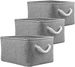 Mangata Boîtes de Rangement Pliables, paniers de Rangement en Tissu pour Livres/DVD/Jouets/école/Maison/Placard/Bureau, Pa...