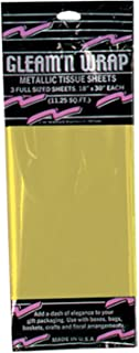 Gleam 'N Wrap Metallic Sheets (gold) Party Accessory (1 count) (3/Pkg)