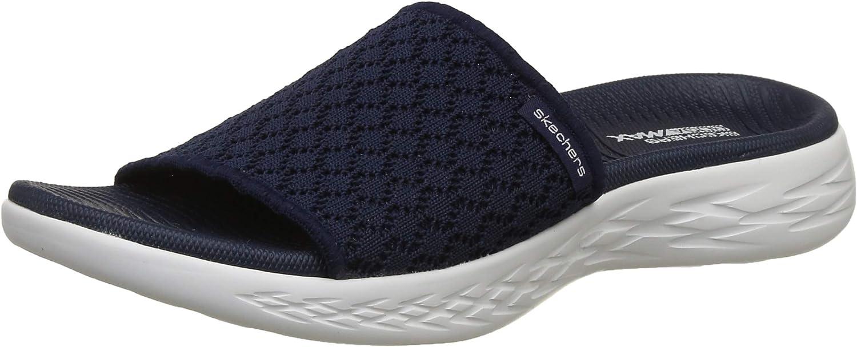 Skechers Womens On-The-Go 600 - Stellar Crochet Molded Footbed Slide Sandal