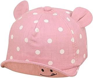 Gorras bebé, Sombrero de Punto Lindo de Las Niñas y Niños Bebé Gorra de Sol de Béisbol de Verano (Rosado)