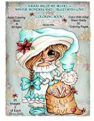 Winter Wonderland Filled With Love Coloring Book
