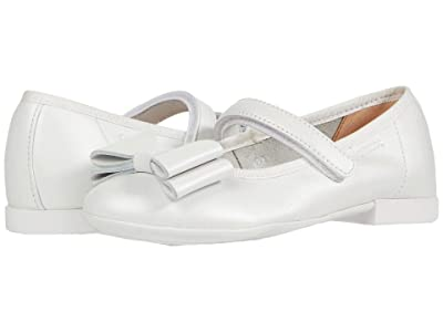 Geox Kids Plie 59 (Little Kid) (White) Girl