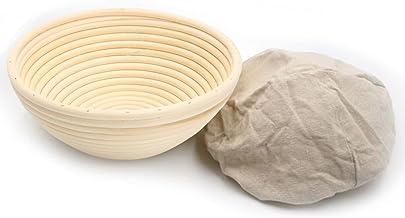 7inch Banneton Rattan Bread Proofing Basket Round Cane Baking Bowl Brotform Bread Dough Proofing Bowl Proving Rising Bakin...