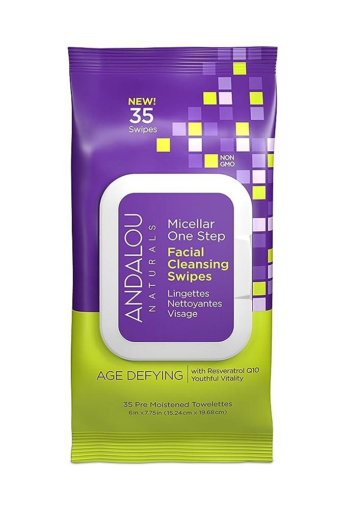 シルエット策定するお客様オーガニック ボタニカル クレンジングシート 洗顔シート ナチュラル フルーツ幹細胞 「 Aミセラスワイプ 35枚入り 」 ANDALOU naturals アンダルー ナチュラルズ