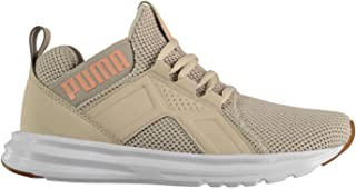 Official Brand Puma Enzo Weave Trainers Womens Shoes Silver/Peach Athleisure Running Sneakers