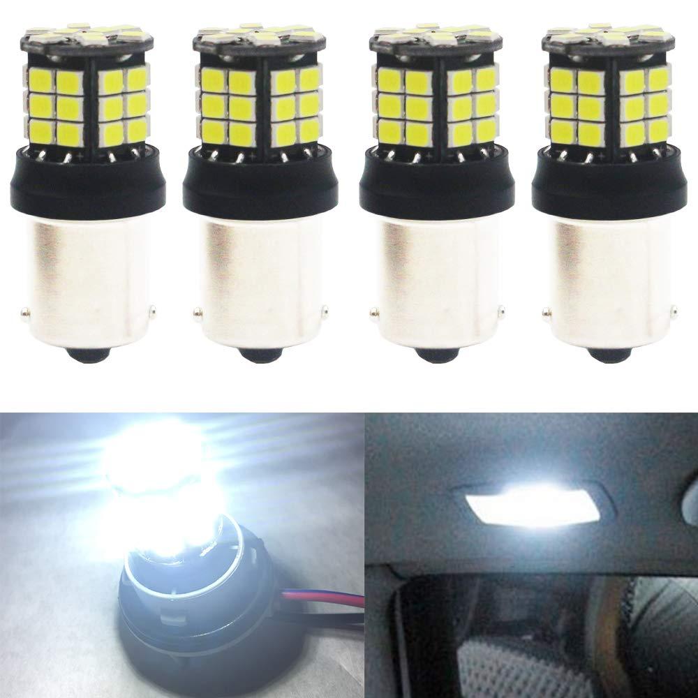 4-Pack 1156 BA15S 7506 1141 1003 Blanco sin polaridad 2835 39-SMD 9-30V Luces LED para luces de Marcha atrás Luces de Reversa Bombilla: Amazon.es: Coche y moto