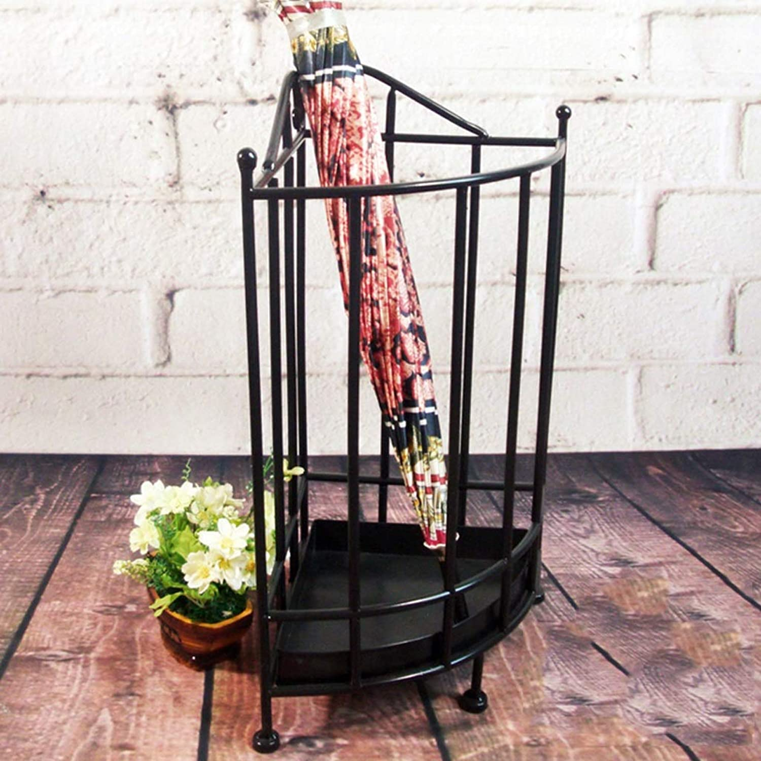 HLJ European Household Multi-Function Umbrella Stand Hotel Foyer Creative Iron Art Umbrella Bucket